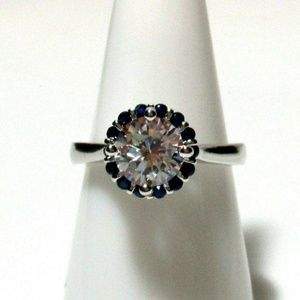 Ring Size 8.5 Simulated Diamond Sapphire #541